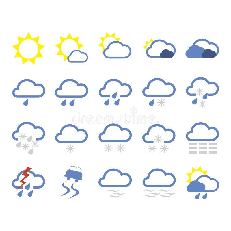 pogoda ikony royalty ilustracja