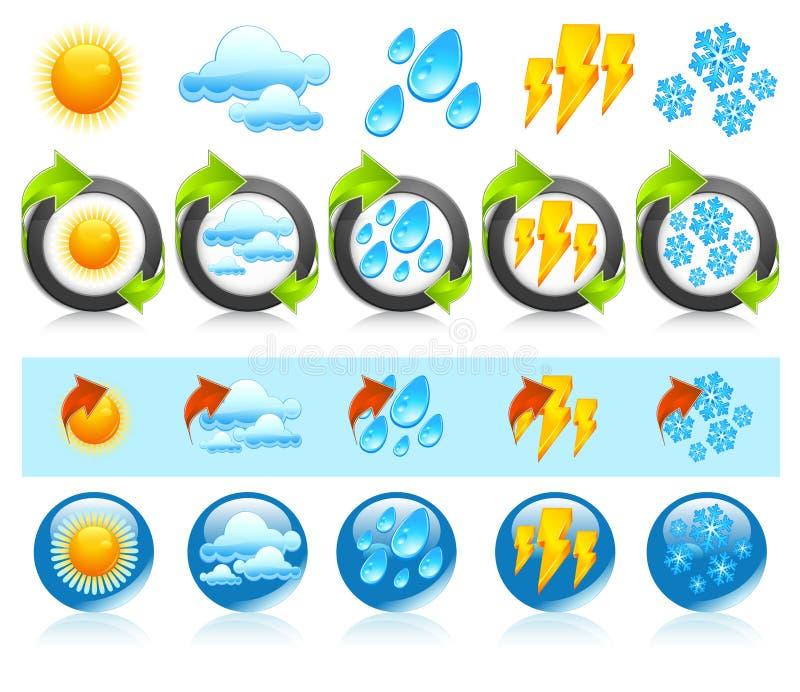 pogoda ikony pogoda ilustracji