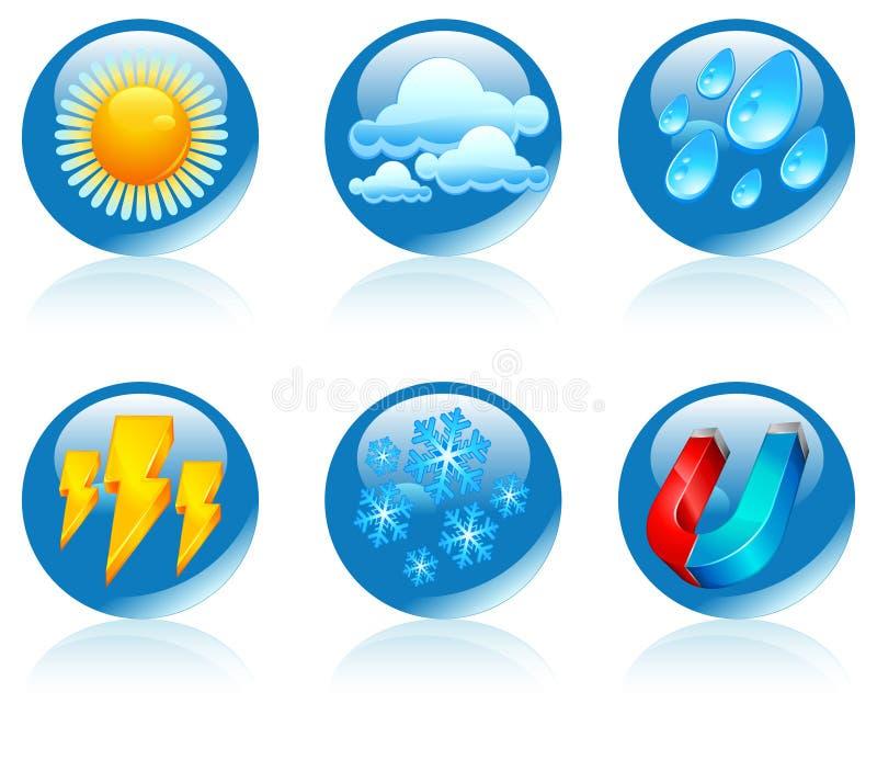 pogoda ikony pogoda ilustracja wektor