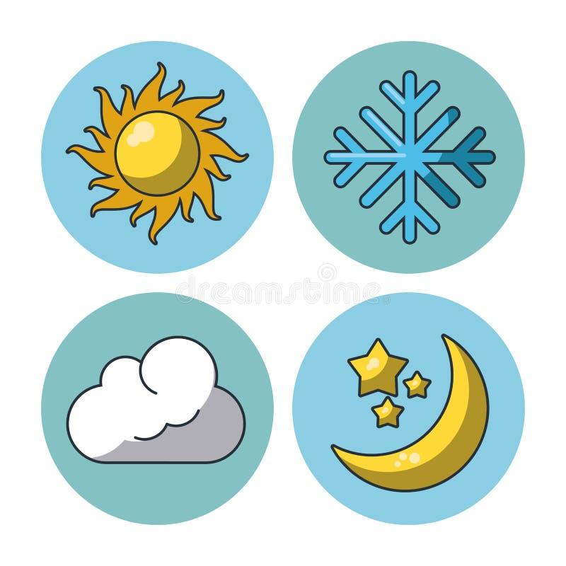 pogoda stanie ikony ilustracja wektor