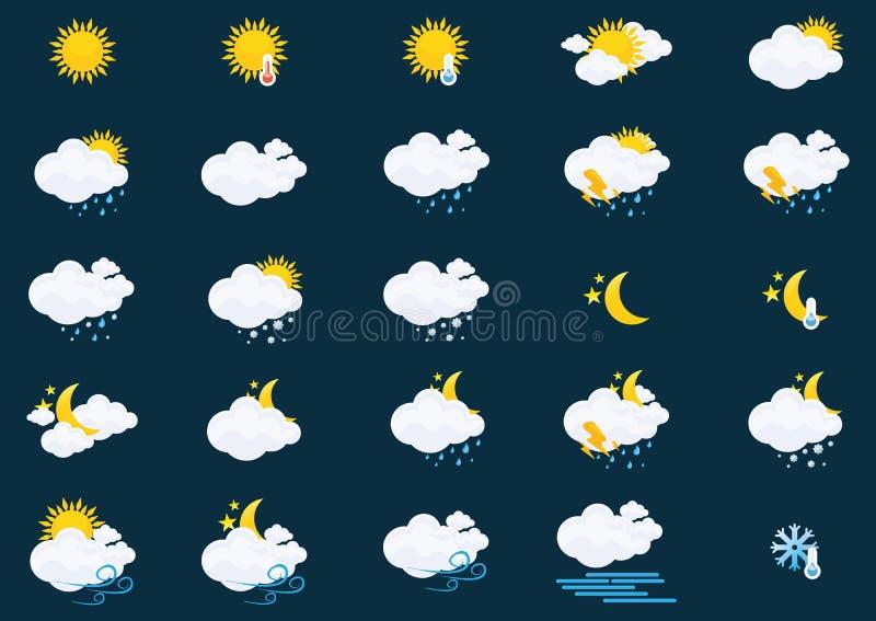 pogoda stanie ikony royalty ilustracja