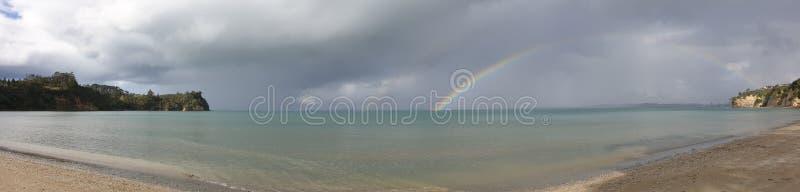Pogoda sztormowa i tęcze obraz royalty free