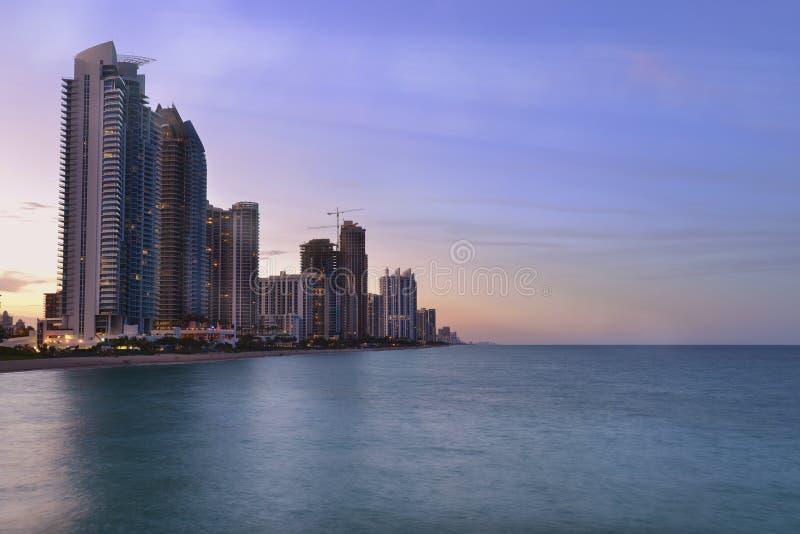 Pogodna wyspy plaża, Miami obraz stock