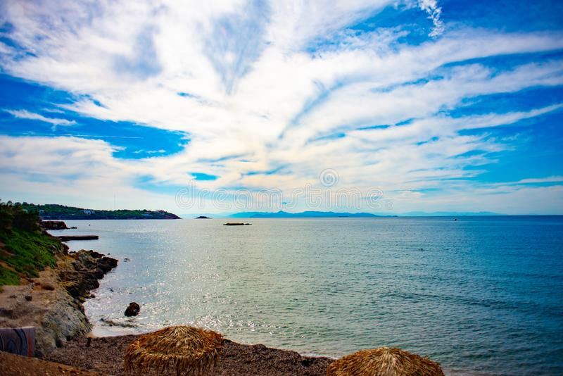 Pogodne plaże Ateny, Grecja obraz royalty free
