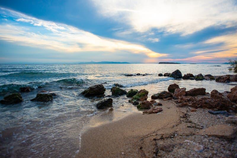 Pogodne plaże Ateny, Grecja obrazy stock