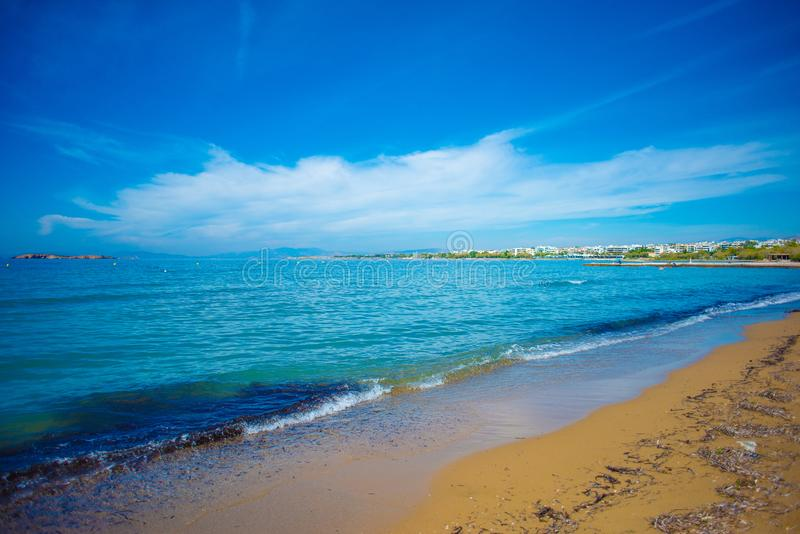 Pogodne plaże Ateny, Grecja obrazy royalty free