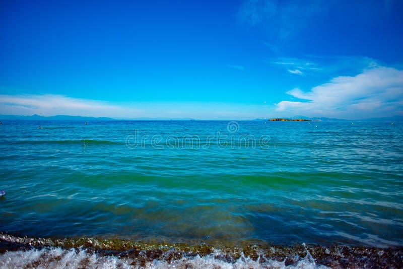 Pogodne plaże Ateny, Grecja zdjęcie stock