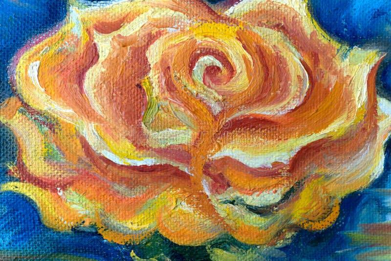 Pogodni słoneczniki, obraz olejny na kanwie - Rosja Berezniki 22 Marzec 2018 obraz royalty free
