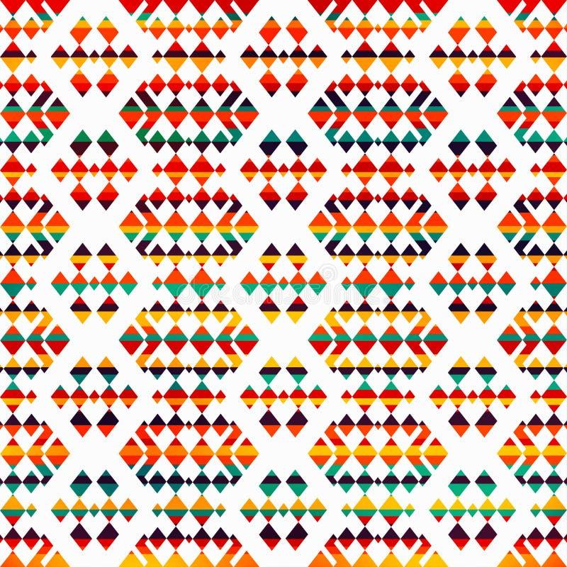 Pogodny geometryczny bezszwowy wzór ilustracja wektor