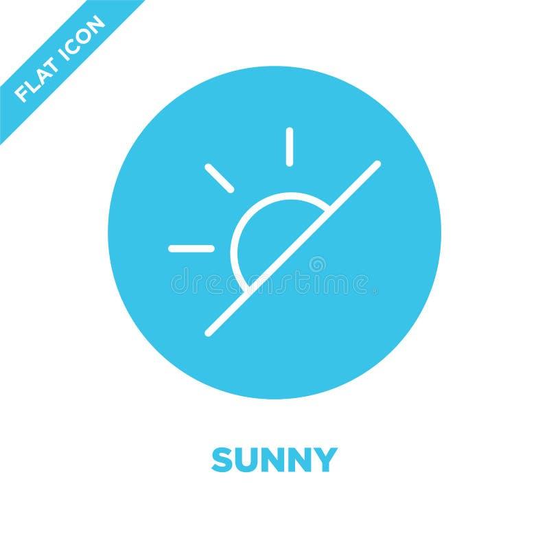 pogodny ikona wektor od pogodowej kolekcji Cienieje kreskową pogodną kontur ikony wektoru ilustrację Liniowy symbol dla używa na  royalty ilustracja