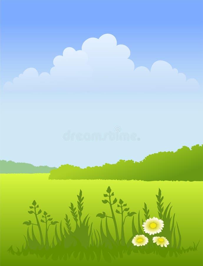 pogodny krajobrazowy lato royalty ilustracja