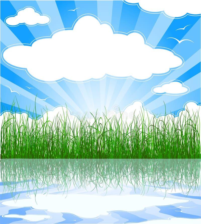 pogodny tła lato ilustracji
