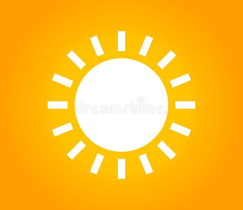 Pogodny tło z białym słońce kształtem ilustracji