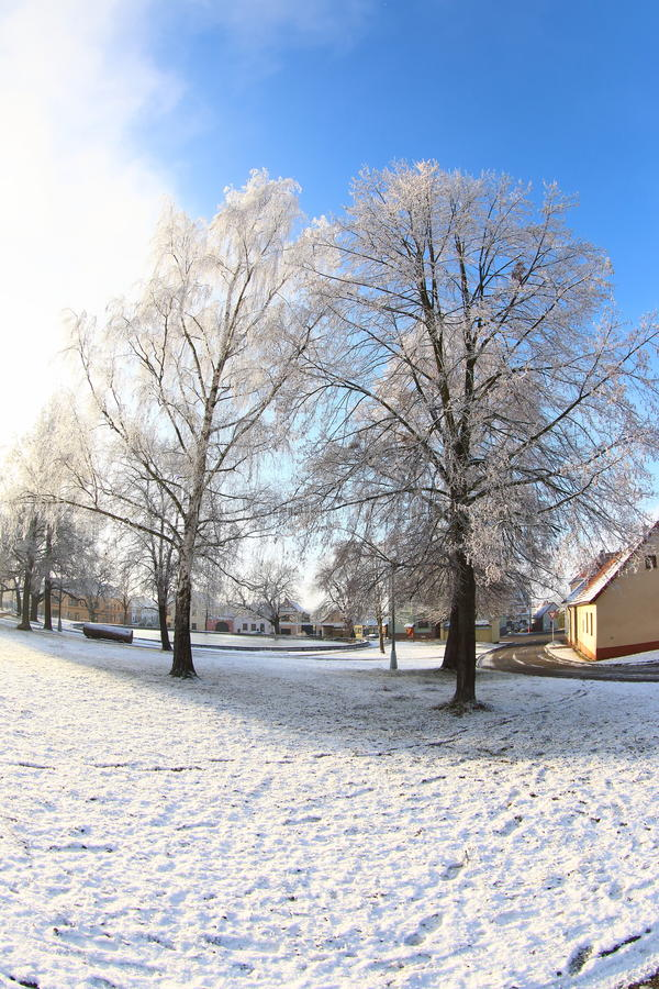 Pogodny zima dzień obrazy royalty free