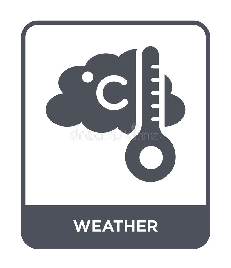 pogodowa ikona w modnym projekta stylu Pogodowa ikona odizolowywająca na białym tle pogodowej wektorowej ikony prosty i nowożytny royalty ilustracja