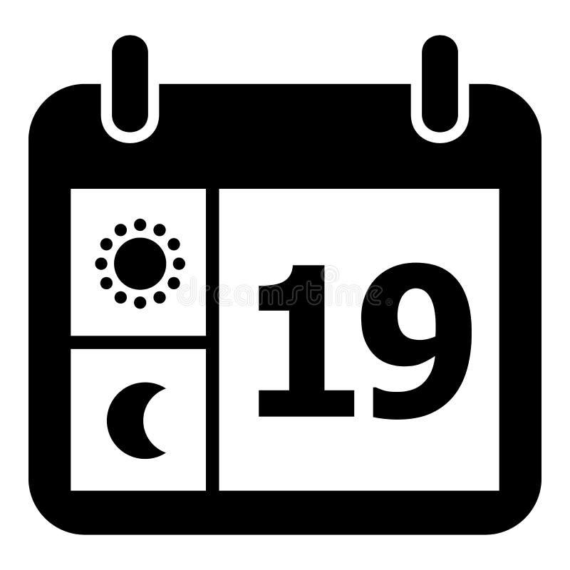 Pogodowa kalendarzowa ikona, prosty styl ilustracji
