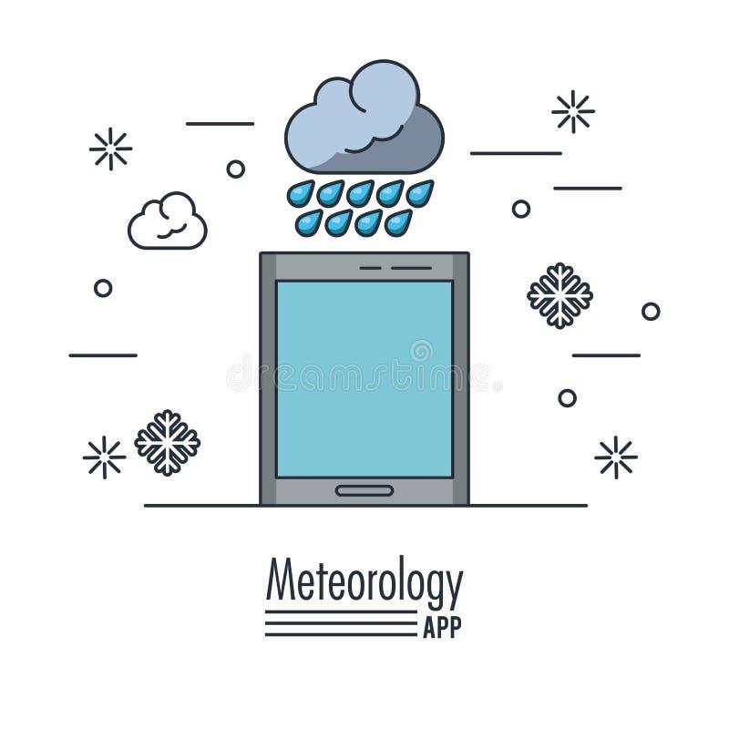 Pogodowa meteorologia app royalty ilustracja
