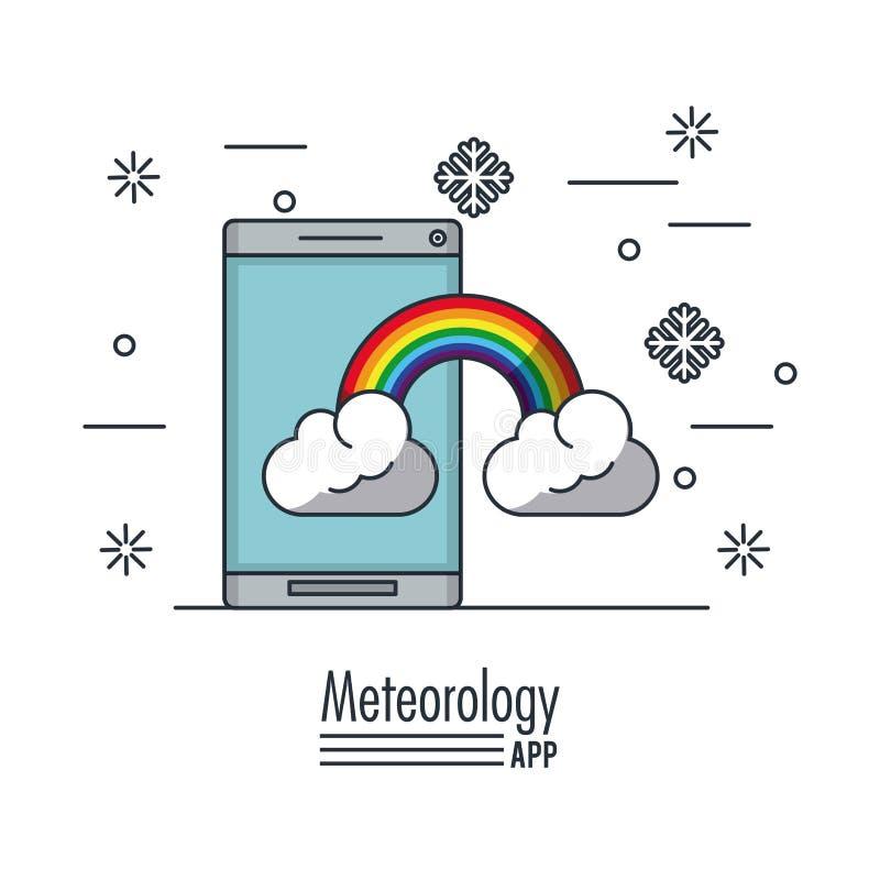 Pogodowa meteorologia app ilustracji