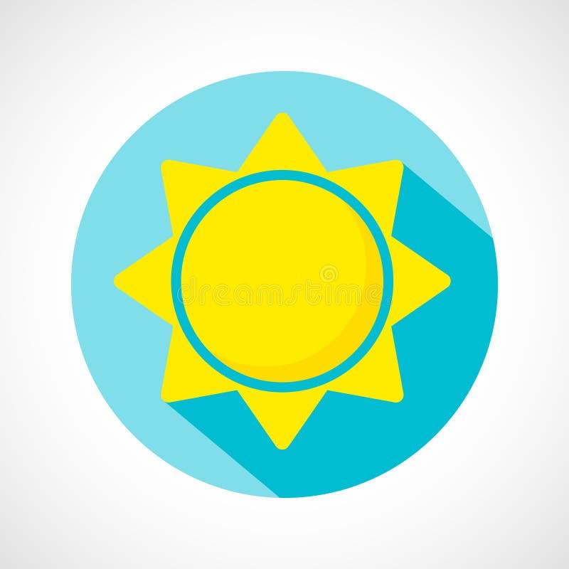 Pogodowa słoneczny dzień ikona ilustracja wektor