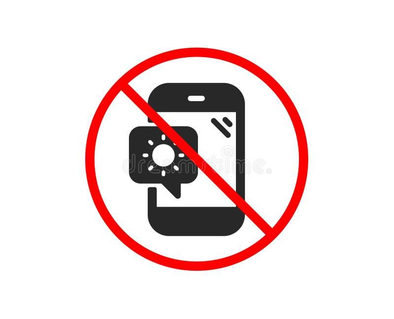 Pogodowa telefon ikona Podr?? przyrz?du znak wektor royalty ilustracja