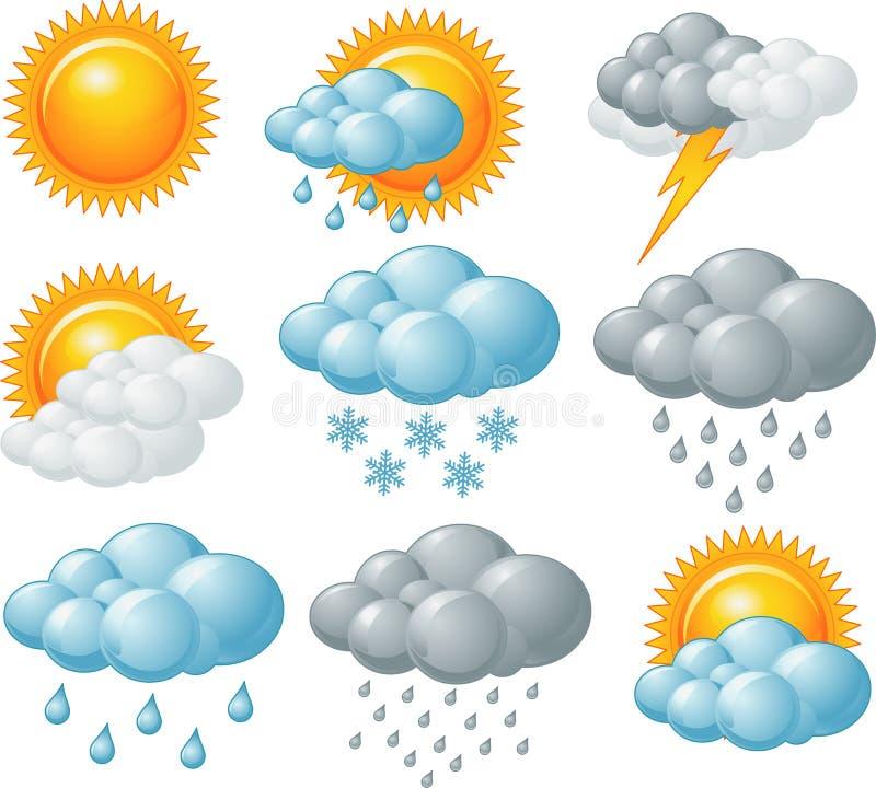 Pogodowe ikony ilustracji