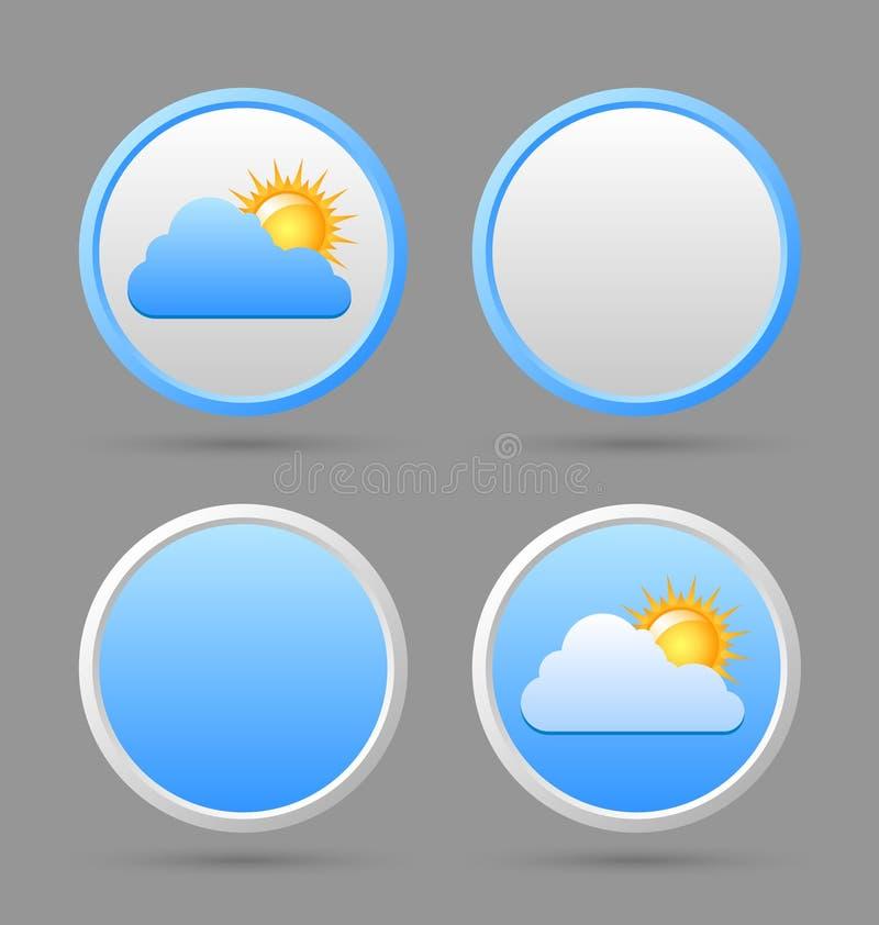 Pogodowe ikony i puści szablony zdjęcia royalty free