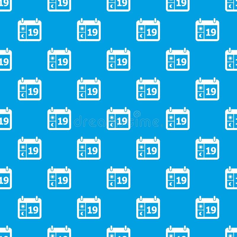 Pogodowego kalendarza wzoru wektorowy bezszwowy błękit ilustracja wektor