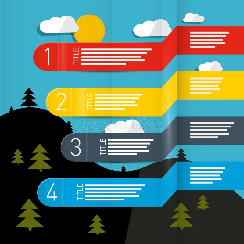 Pogodowego prognozowania wektor Infographic ilustracja wektor