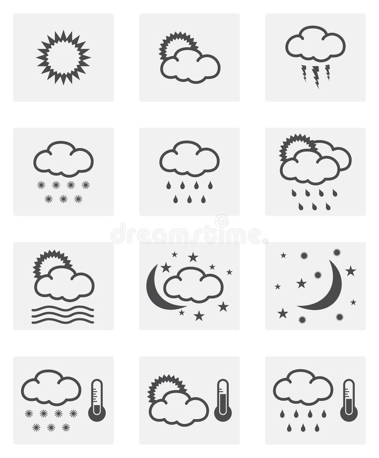 Pogodowy ikona set