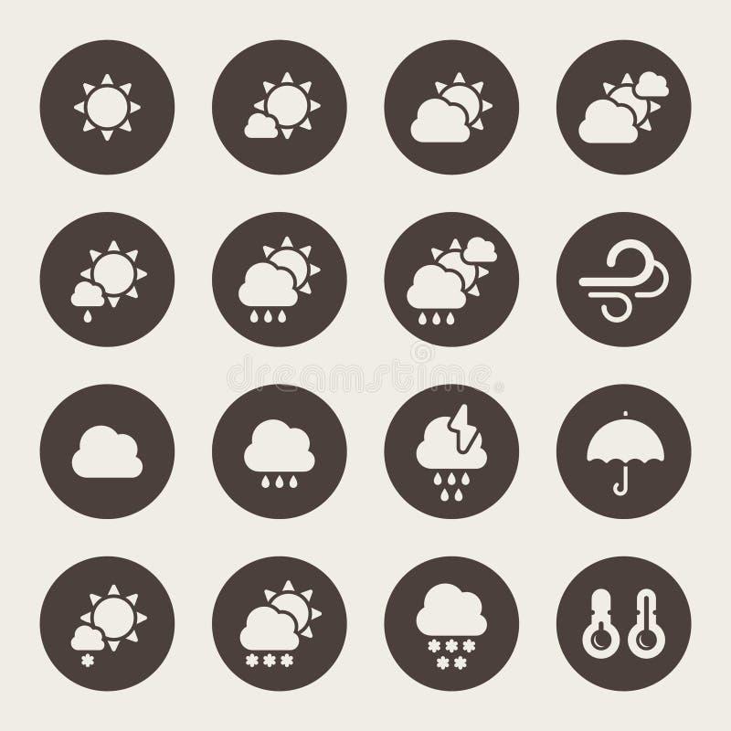 Pogodowy ikona set ilustracji