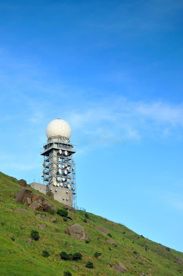 Pogodowy radar obraz stock