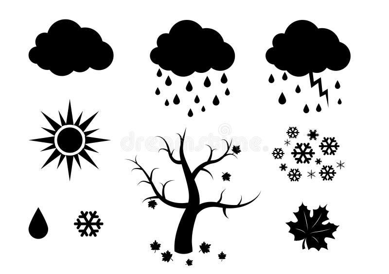 Pogodowy s ilustracja wektor