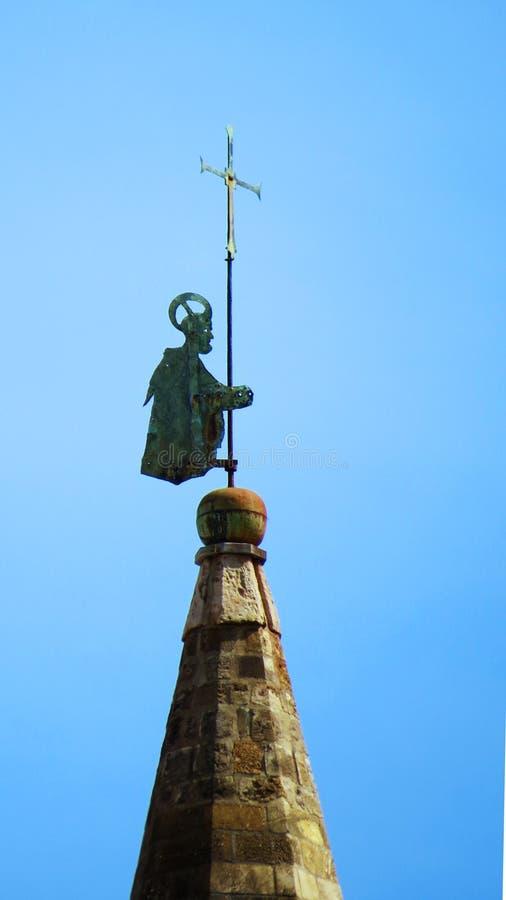 Pogodowy vane na górze Palermo katedry zdjęcia royalty free