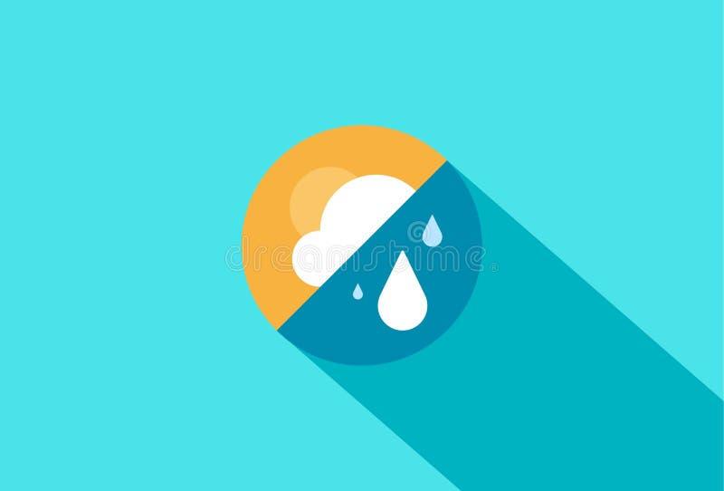 Pogodowy widget projekt ilustracja wektor