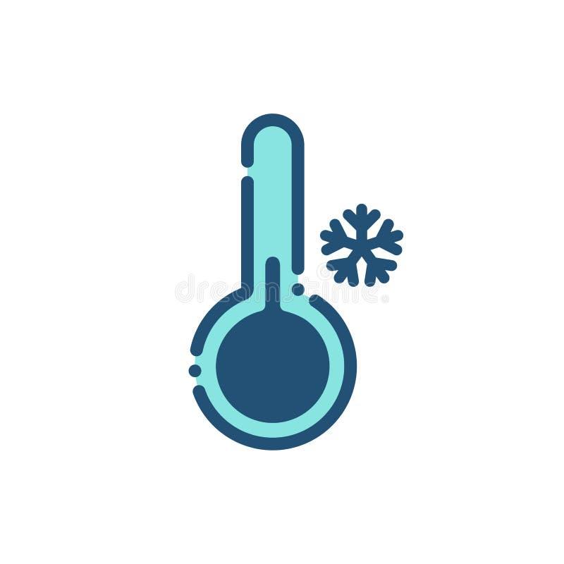 Pogodowy zimny ikona kontur ilustracji