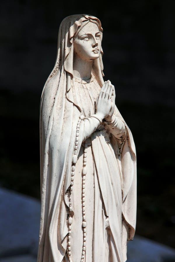 Pogrzebowa statua maryja dziewica obraz royalty free