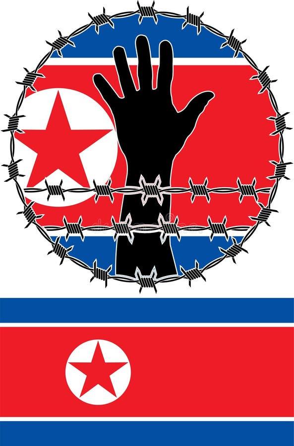 Pogwałcenie Praw Człowieka W Północnym Korea Obrazy Stock