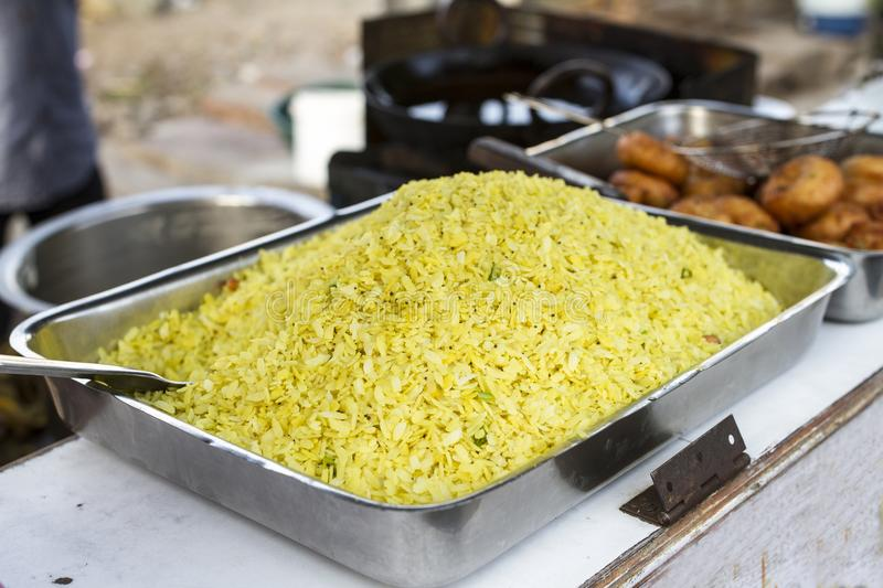 Poha Food. Indian Traditional Street Lite Food Poha royalty free stock images