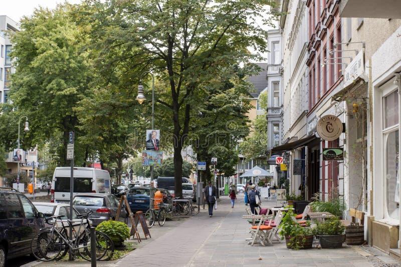 Pohlstraßestraat in Berlijn royalty-vrije stock fotografie
