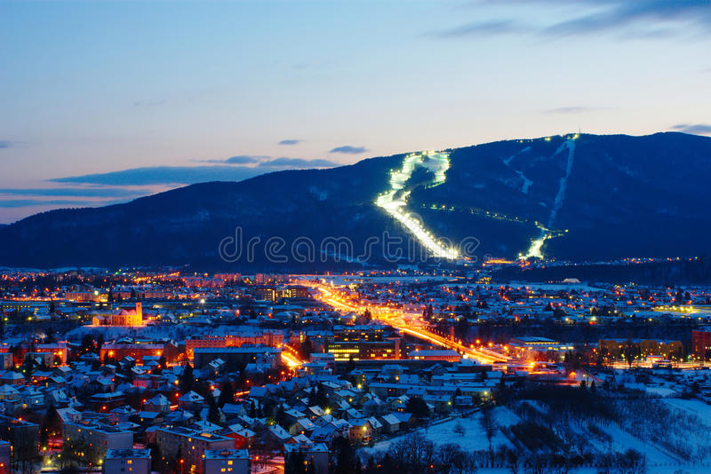 Pohorje And Maribor In Winter, Slovenia royalty free stock photo