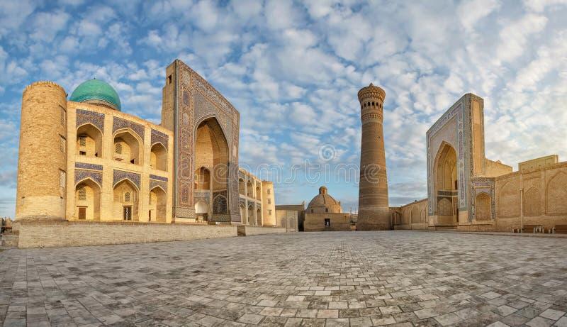 Poi Kalan - godsdienstige complex gevestigd rond Kalan-minaret i royalty-vrije stock fotografie