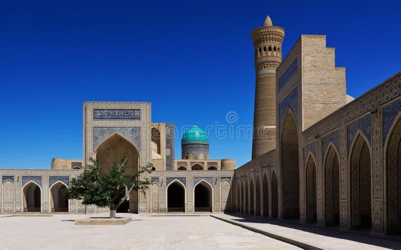 The Poi Kalyan architectural complex in Bukhara, Uzbekistan royalty free stock photography
