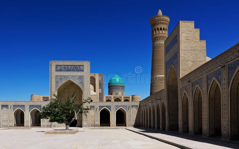 Poi Kalyan architektoniczny kompleks w Bukhara, Uzbekistan fotografia royalty free