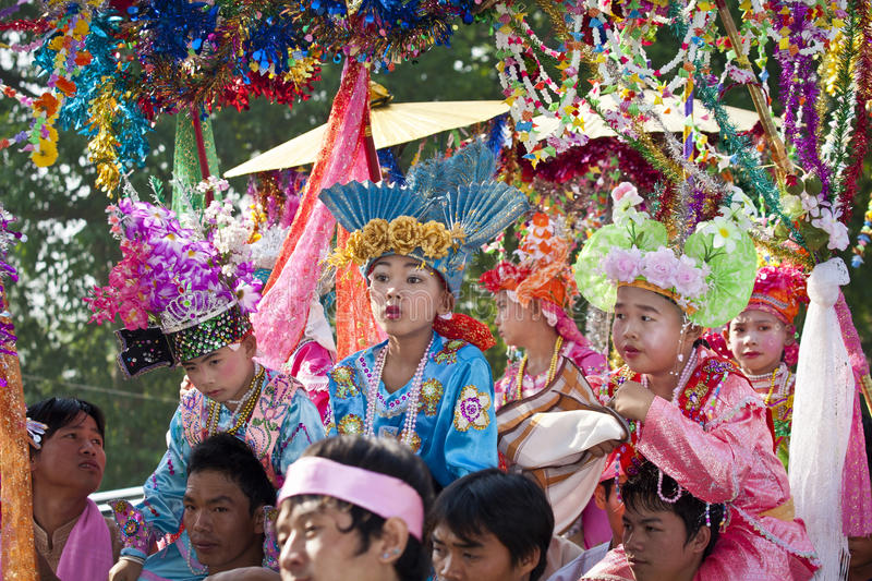 Download Poi Sang Long Festival, A Ceremony Of Boys Editorial Stock Image - Image: 24484844