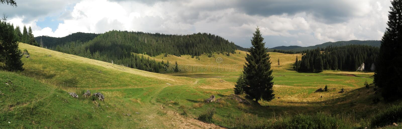 Poiana Ponor - Tal in Bihor-carst Bergen in Apuseni in Rumänien stockfotos