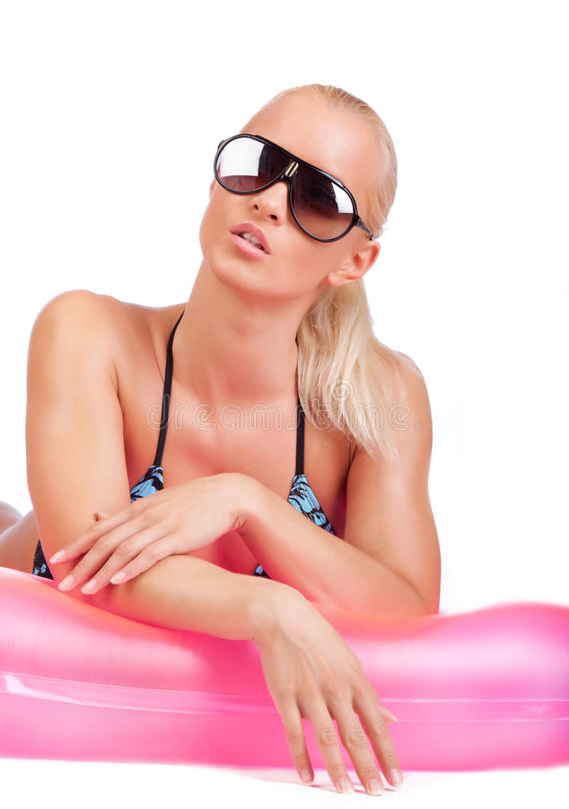 poicture性感的游泳者 免版税库存图片