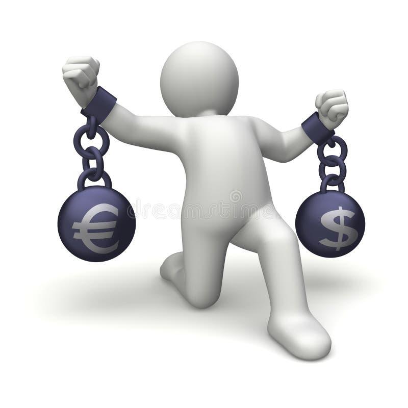 poids d'argent illustration libre de droits