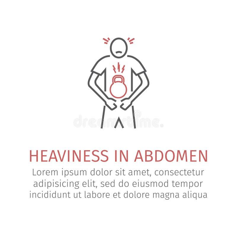 Poids dans l'abdomen illustration libre de droits