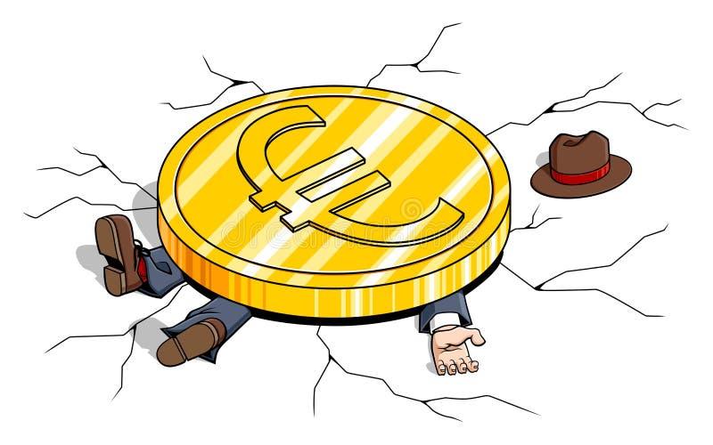 Poids de l'euro illustration libre de droits