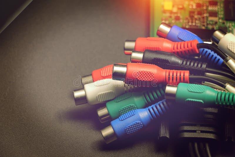 Poids du commerce de câble pour la capture de carte vidéo photographie stock